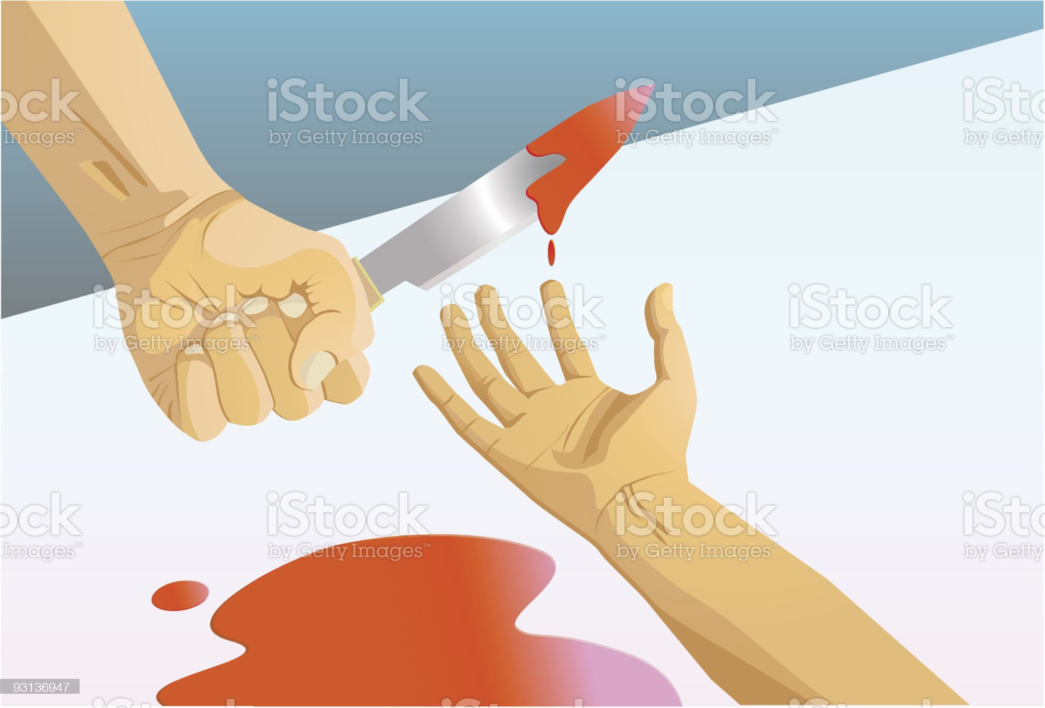 Muderer and Victim royalty-free stock vector art