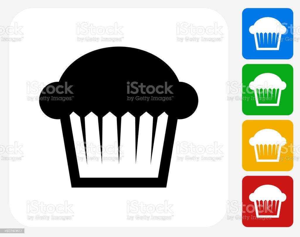 Muffin Icon Flat Graphic Design vector art illustration