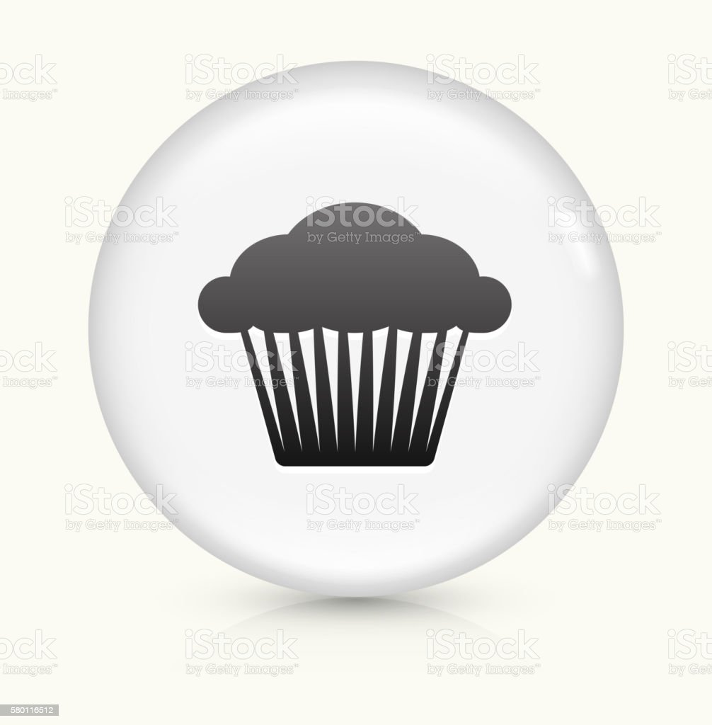 Muffin icon on white round vector button vector art illustration