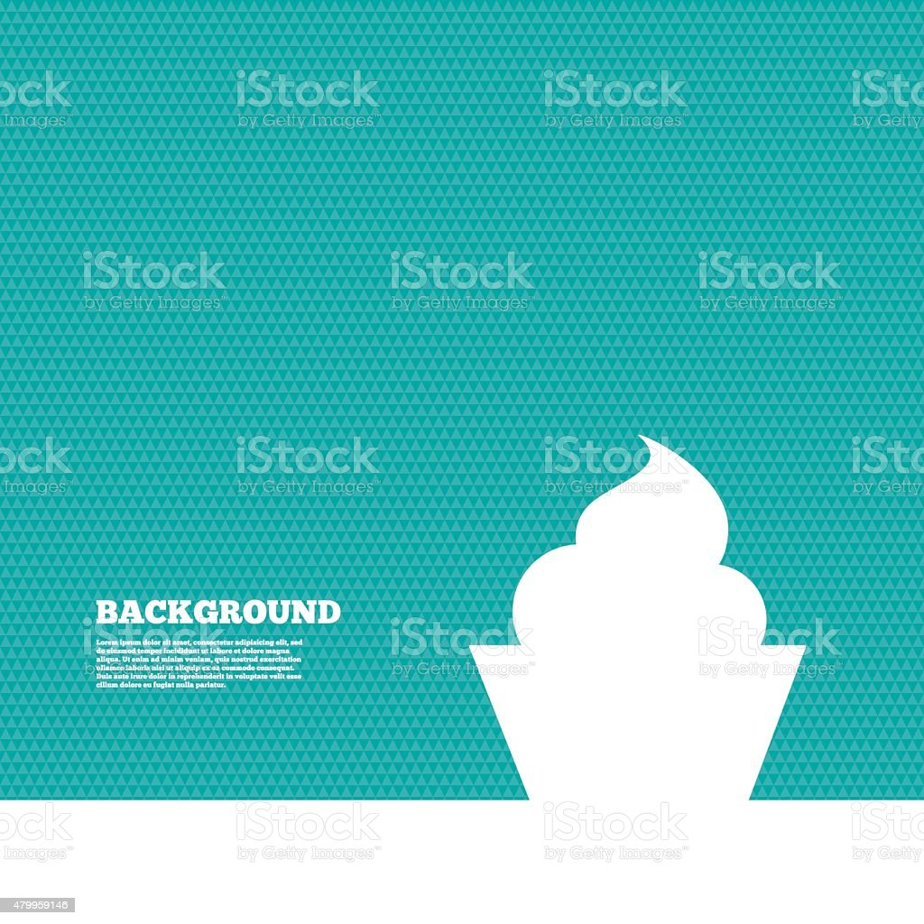 Muffin sign icon. Cupcake symbol vector art illustration