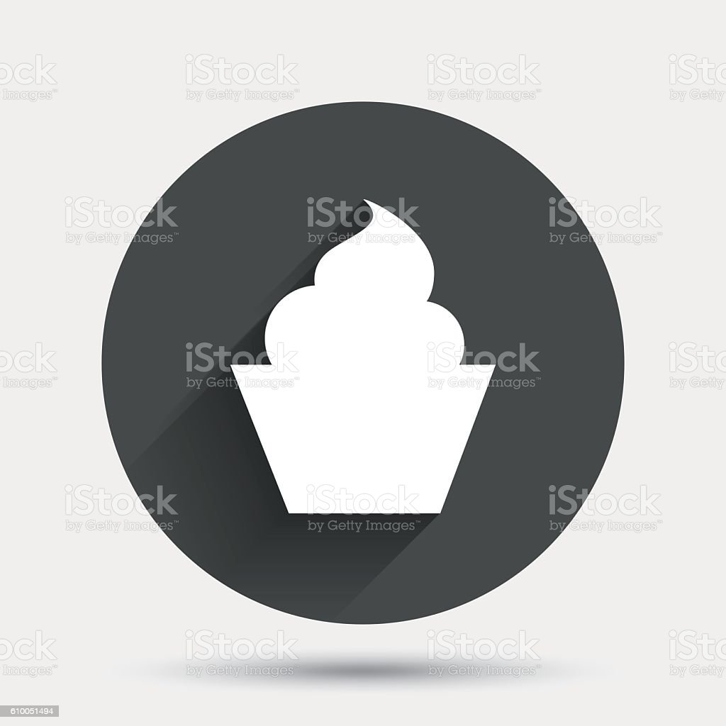 Muffin sign icon. Cupcake symbol. vector art illustration