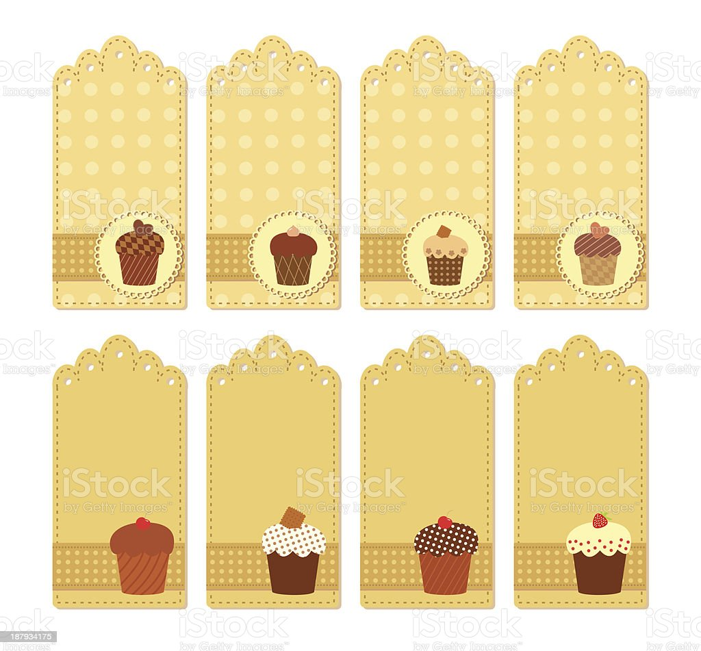 muffin tags collection royalty-free stock vector art