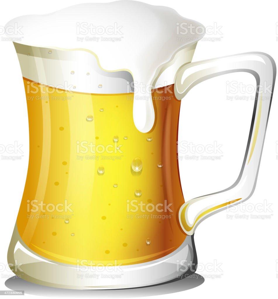 Mug full of cold beer royalty-free stock vector art