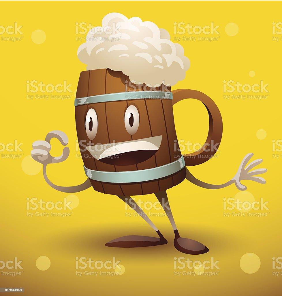 Mug of beer royalty-free stock vector art