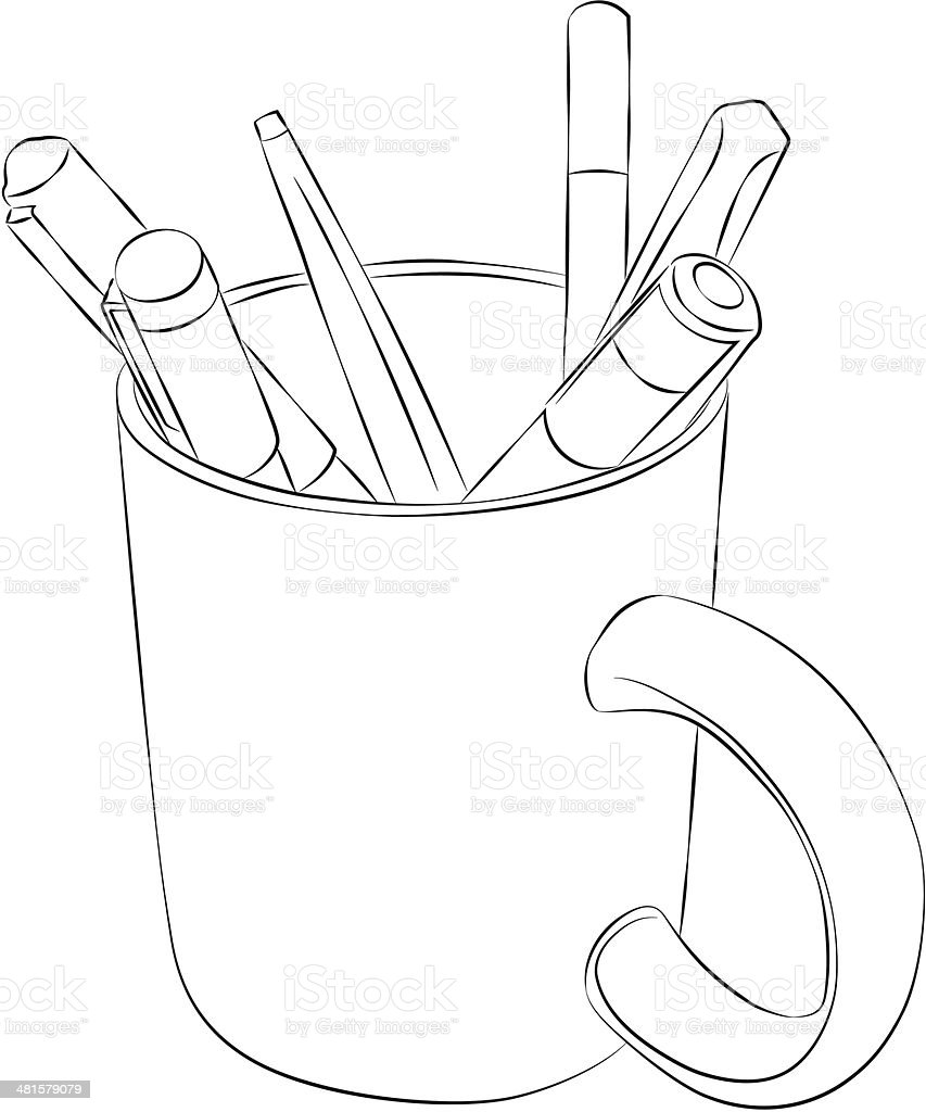 Mug vector art illustration