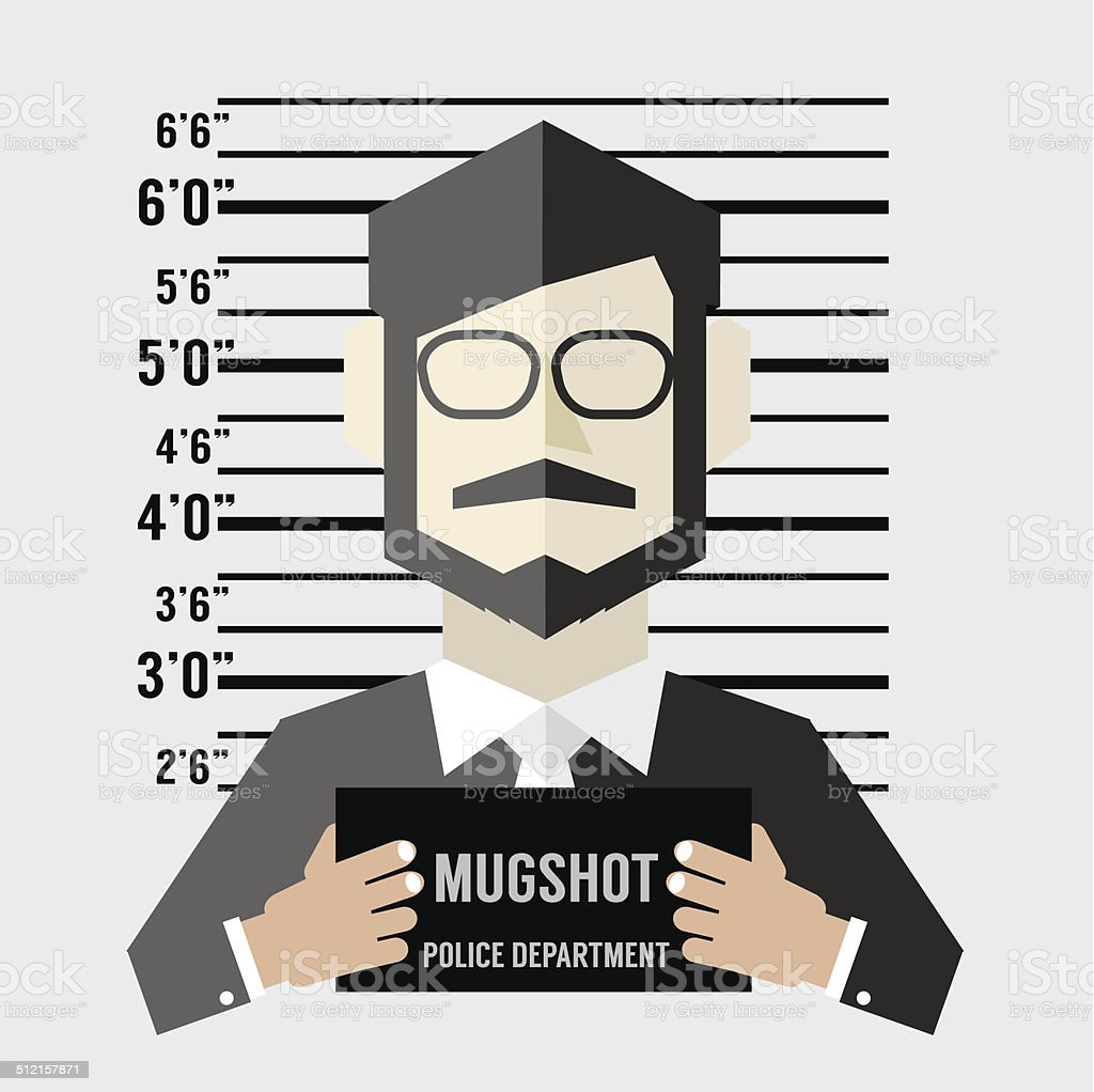 Mugshot Of Businessman Vector Illustration vector art illustration