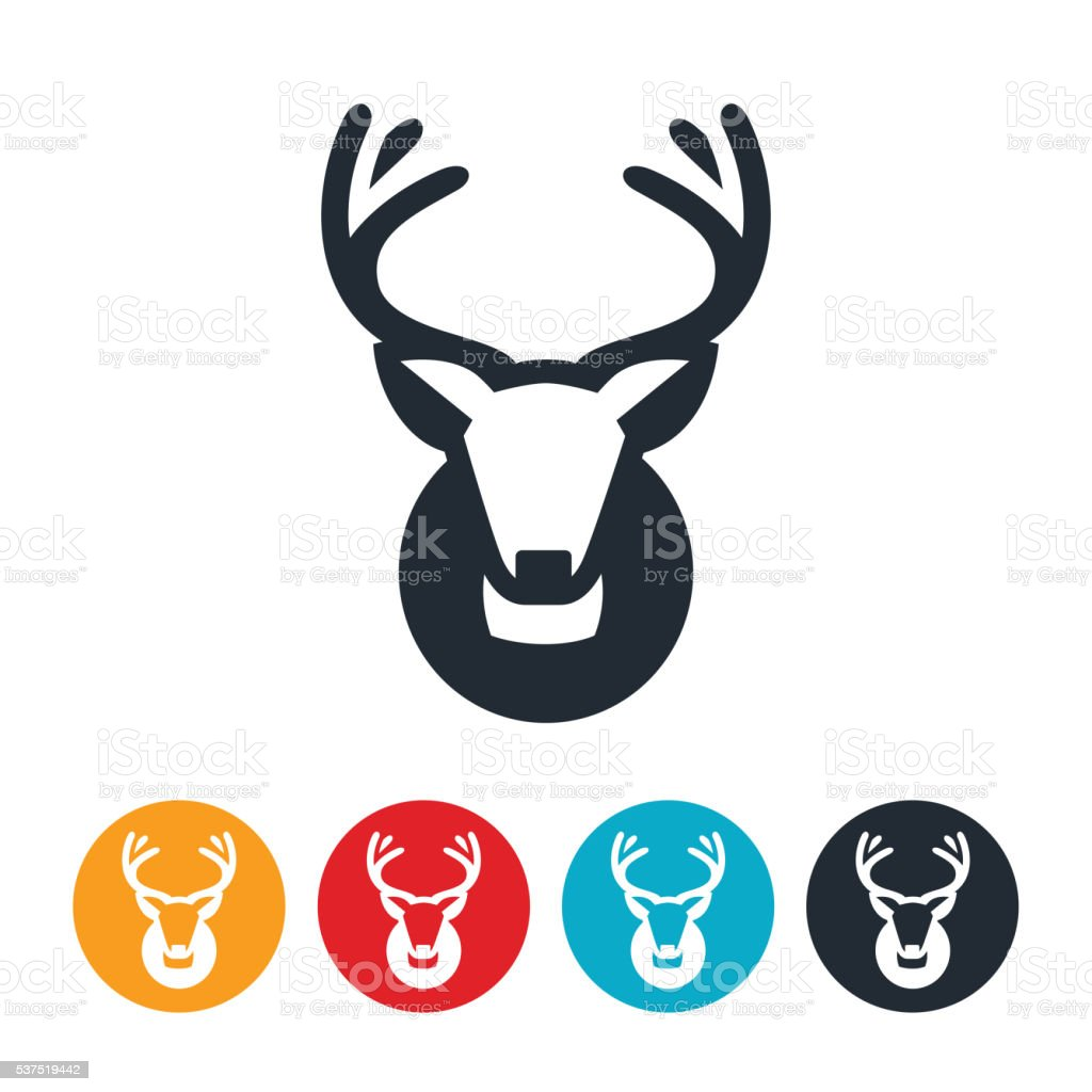 Mule Buck Mount Icon vector art illustration