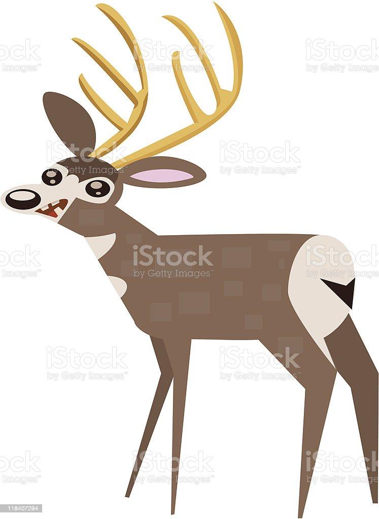 Mule Deer vector art illustration