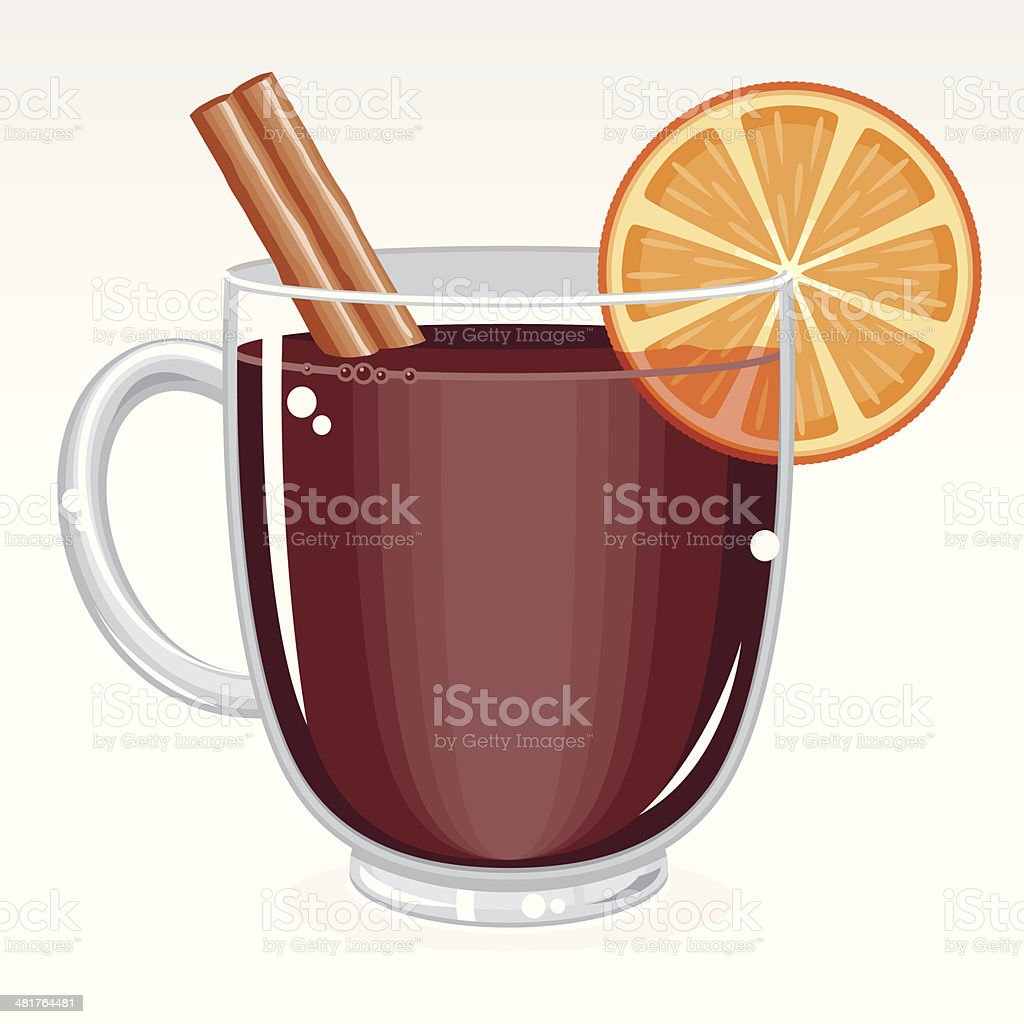 Mulled Wine royalty-free stock vector art