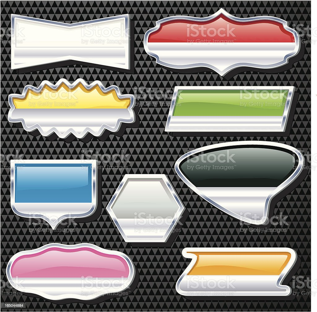 Multi Col Badges royalty-free stock vector art