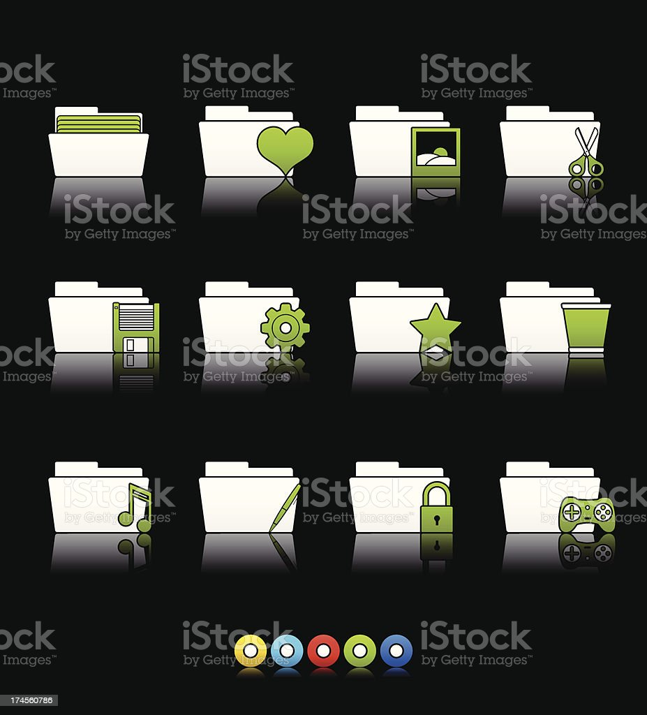 Multi Color Series - Folder Applications II (set 10) royalty-free stock vector art