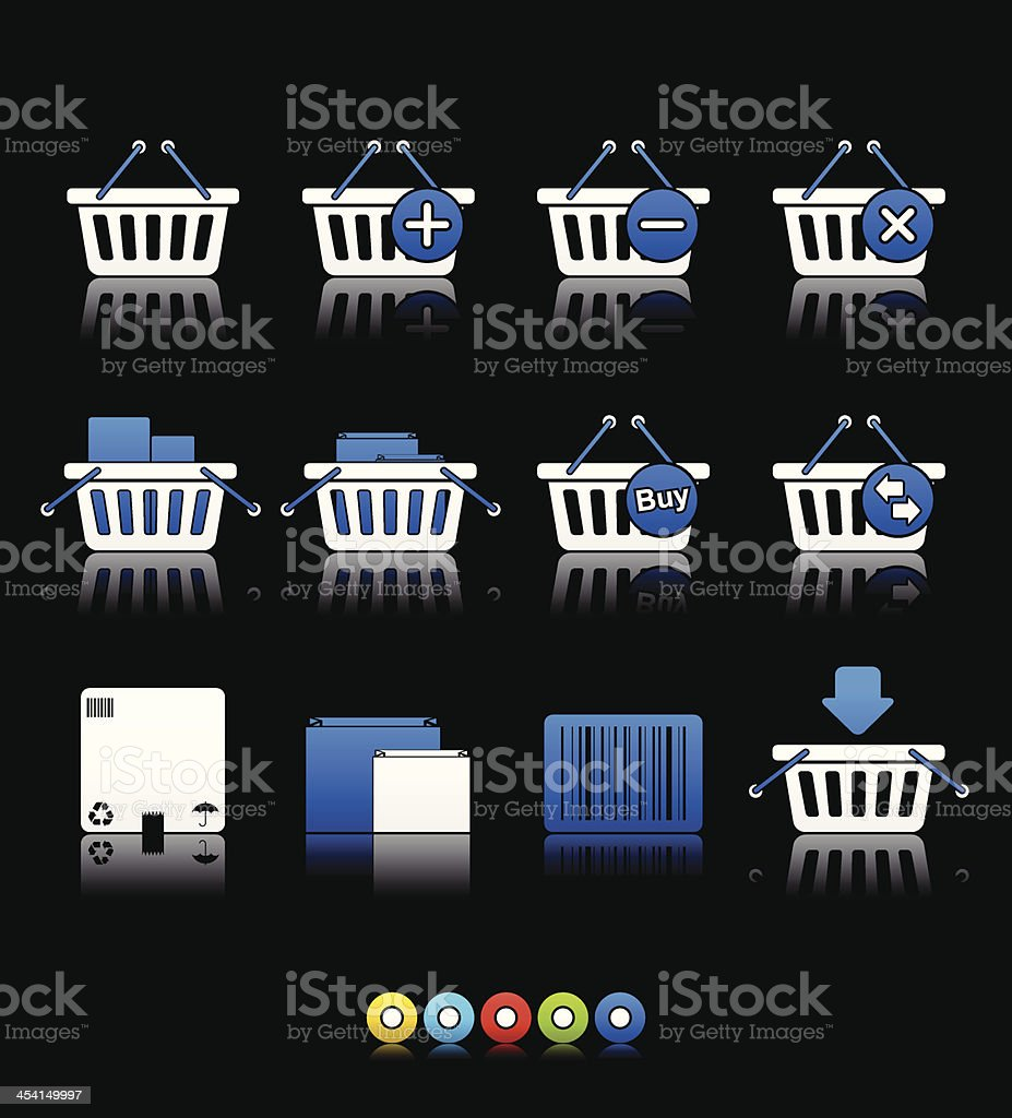 Multi Color Series - Shopping Baskets (set 20) royalty-free stock vector art