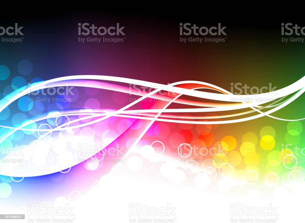 Multi Colored Abstract Light Wave Background royalty-free stock vector art
