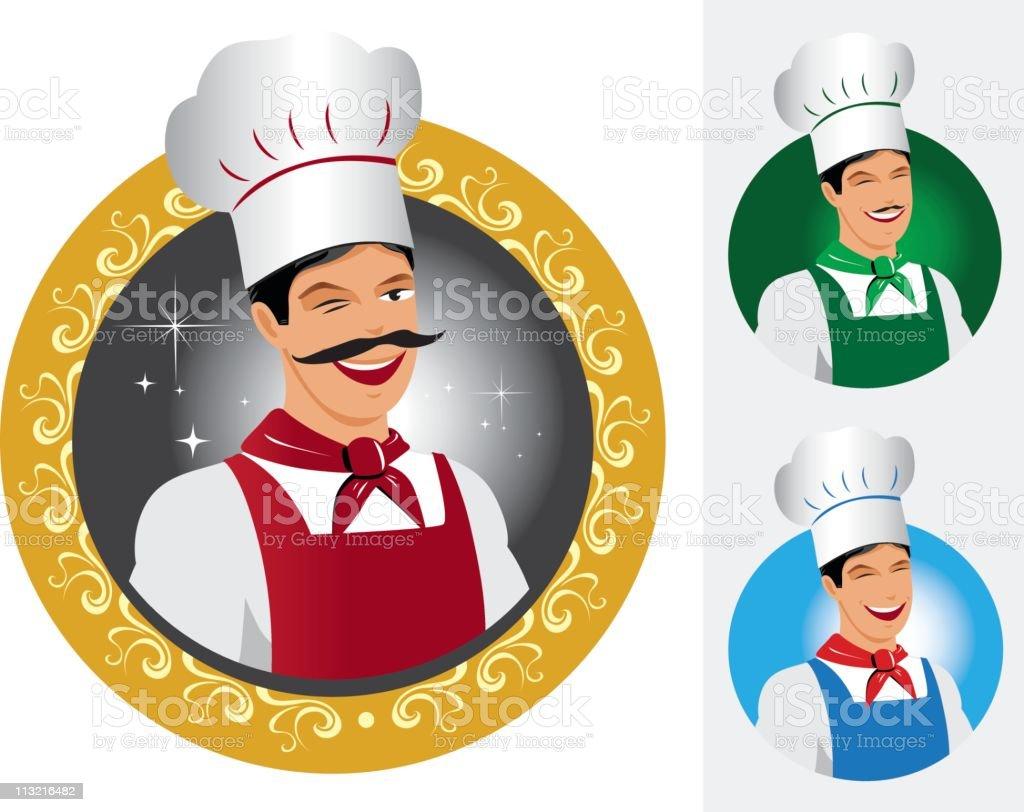 Multi ethnic chefs royalty-free stock vector art