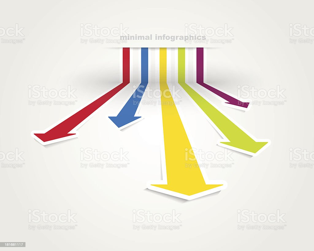 Multi purpose minimal infographics vector art illustration