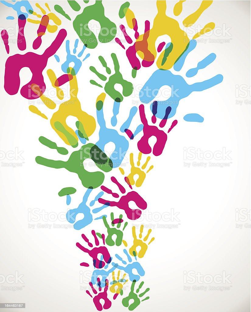 Multicolor diversity hands splash royalty-free stock vector art