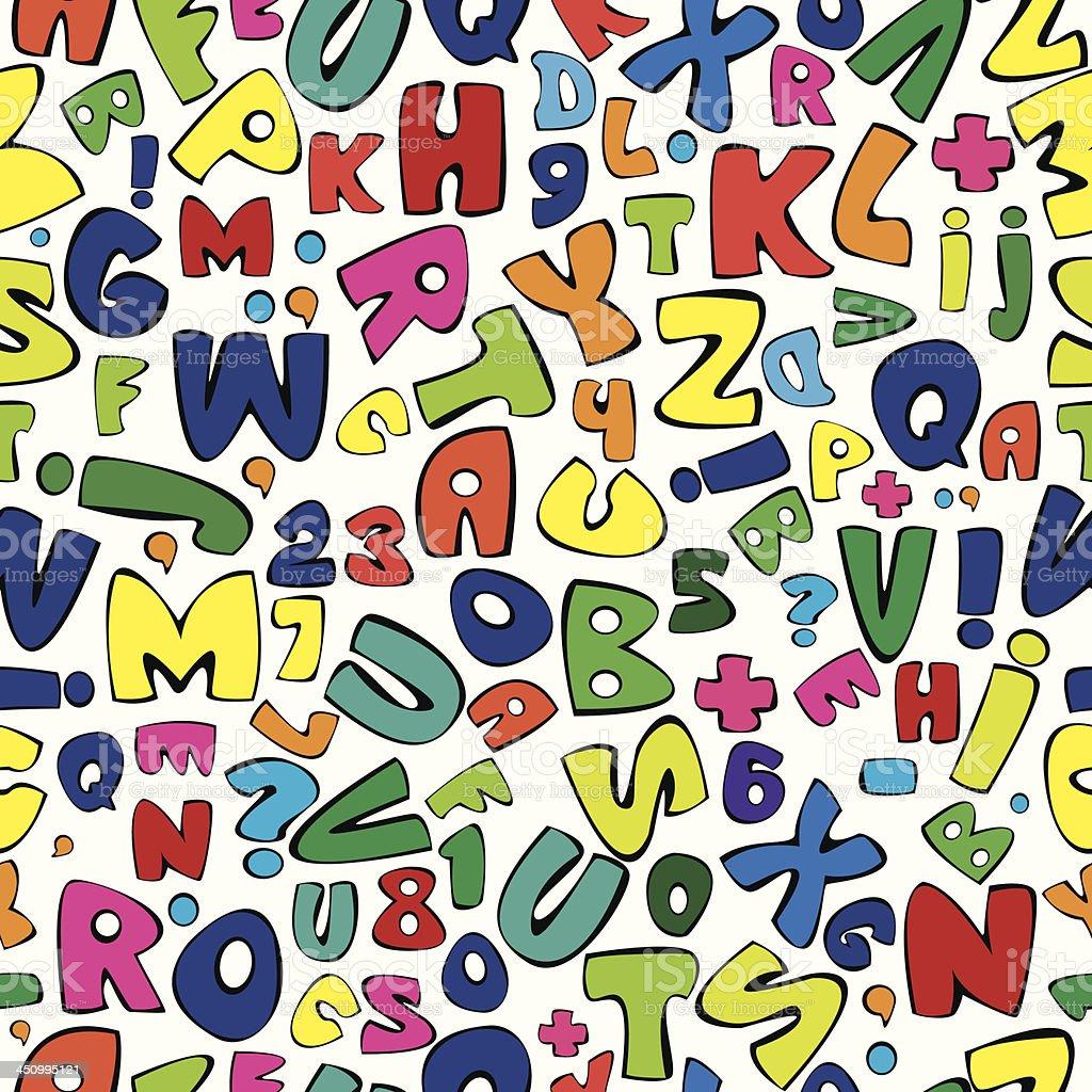 multicolor english alphabet seamless pattern royalty-free stock vector art