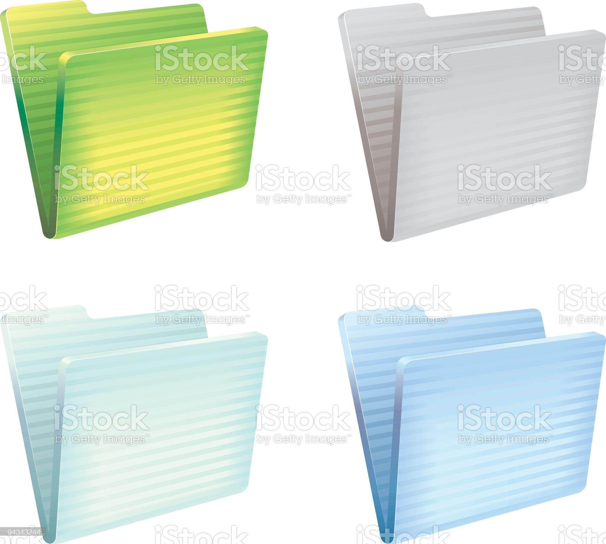 Multicolor folders royalty-free stock vector art