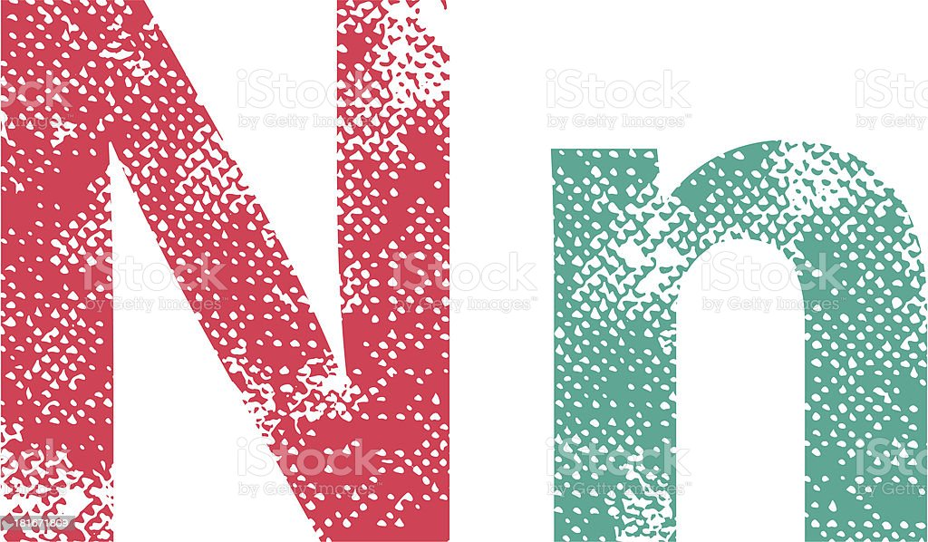 Multicolor grunge letter. royalty-free stock vector art