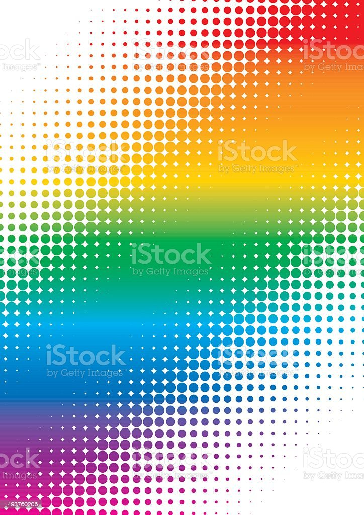 multicolor halftone dots colorful cover page vector art illustration