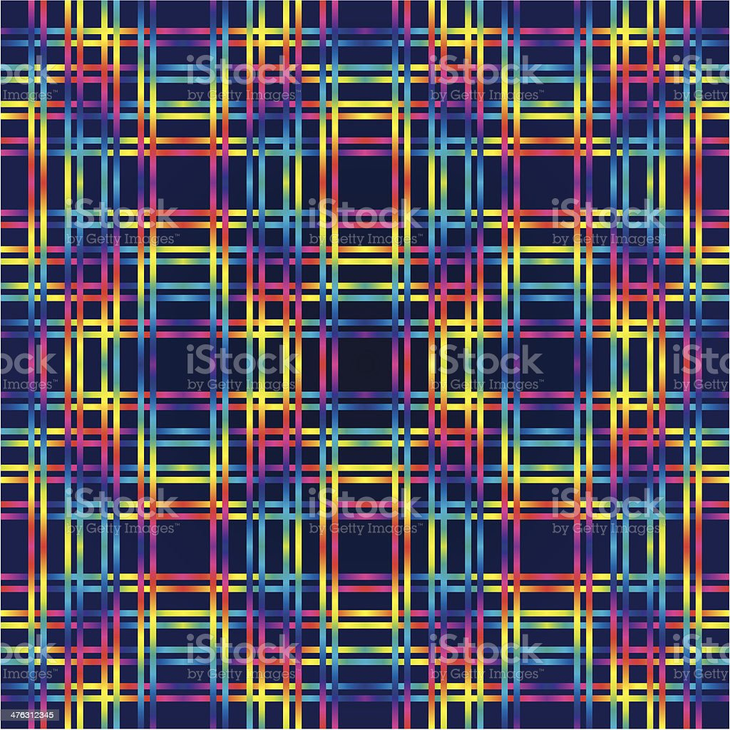 Multicolor huichol background vector art illustration