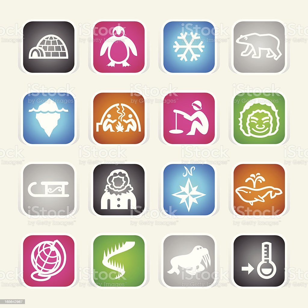 Multicolor Icons - Arctic Polar royalty-free stock vector art