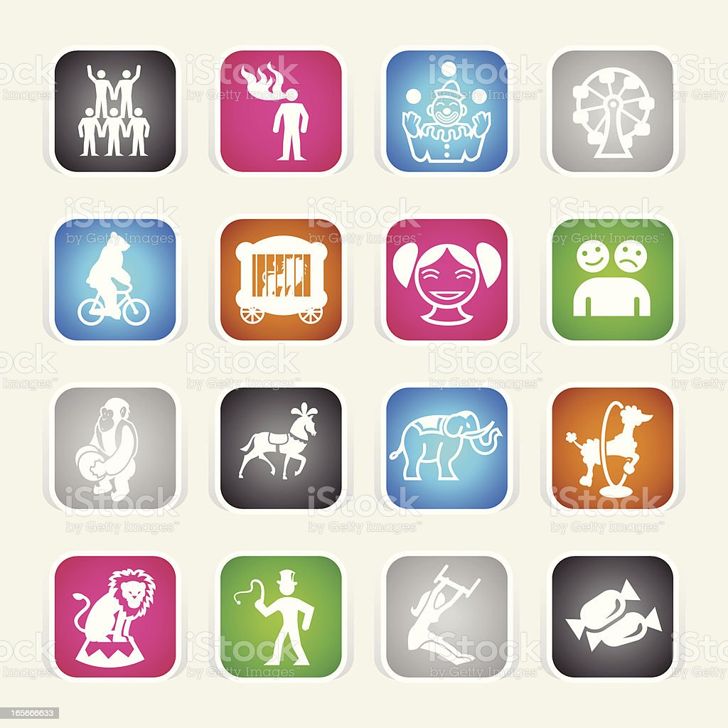Multicolor Icons - Circus royalty-free stock vector art
