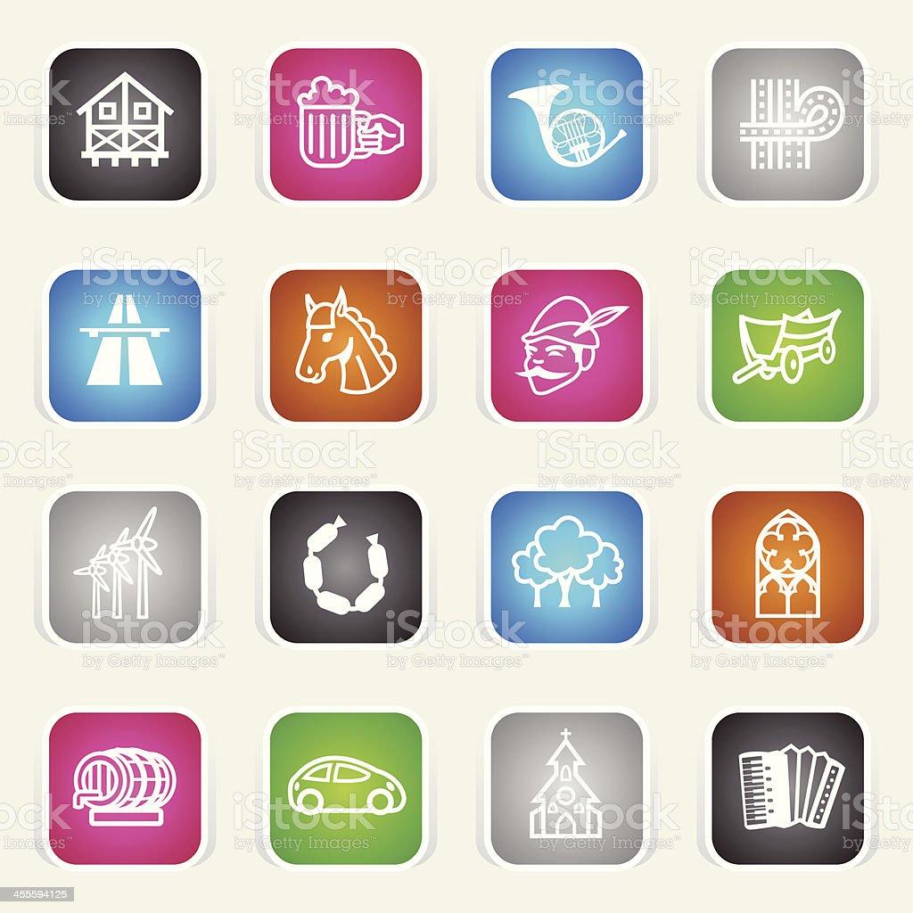 Multicolor Icons - Germany & Oktoberfest royalty-free stock vector art