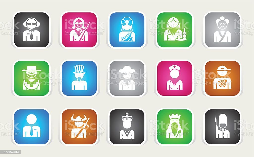 Multicolor Icons - Professions royalty-free stock vector art