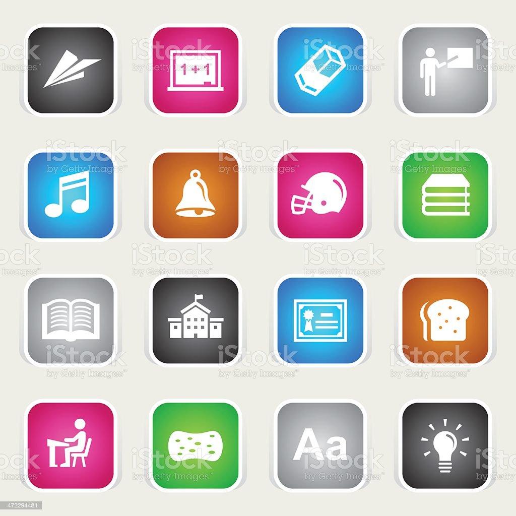 Multicolor Icons - School & Education royalty-free stock vector art