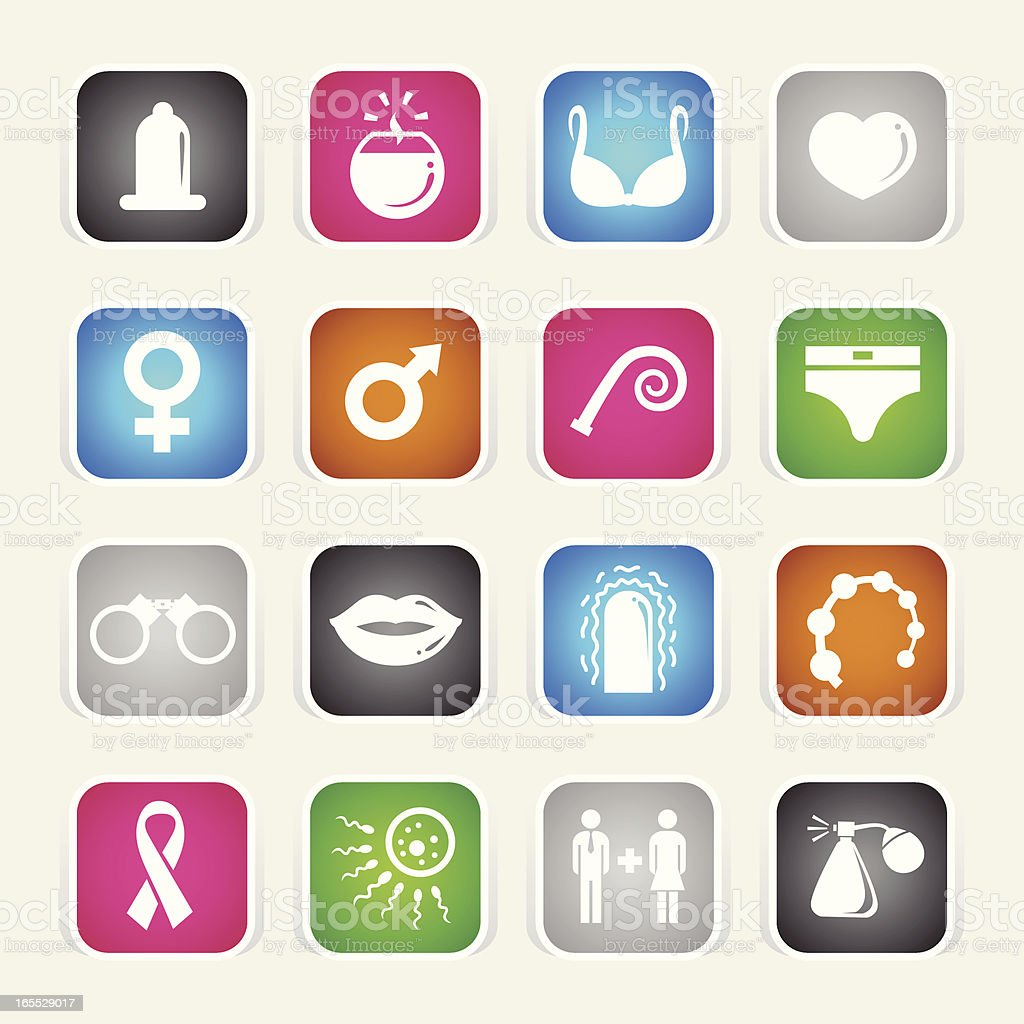 Multicolor Icons - Sex vector art illustration