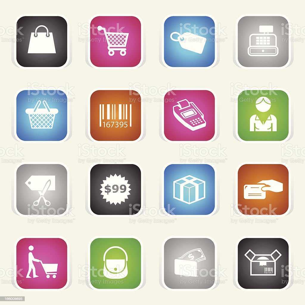 Multicolor Icons - Shopping royalty-free stock vector art