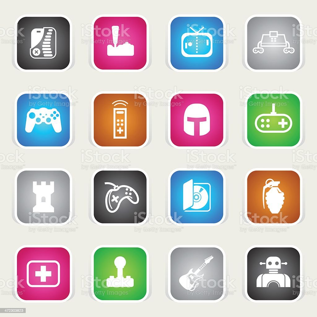 Multicolor Icons - Video Games royalty-free stock vector art