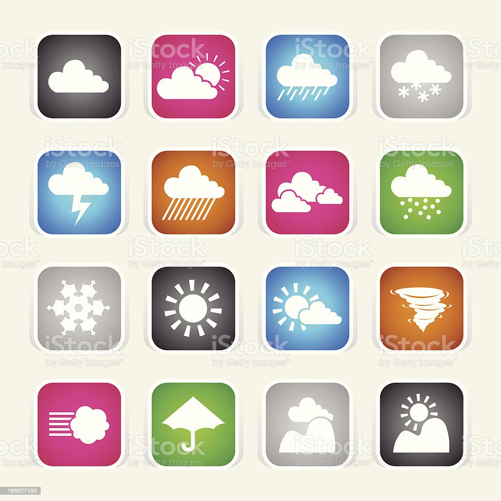 Multicolor Icons - Weather royalty-free stock vector art