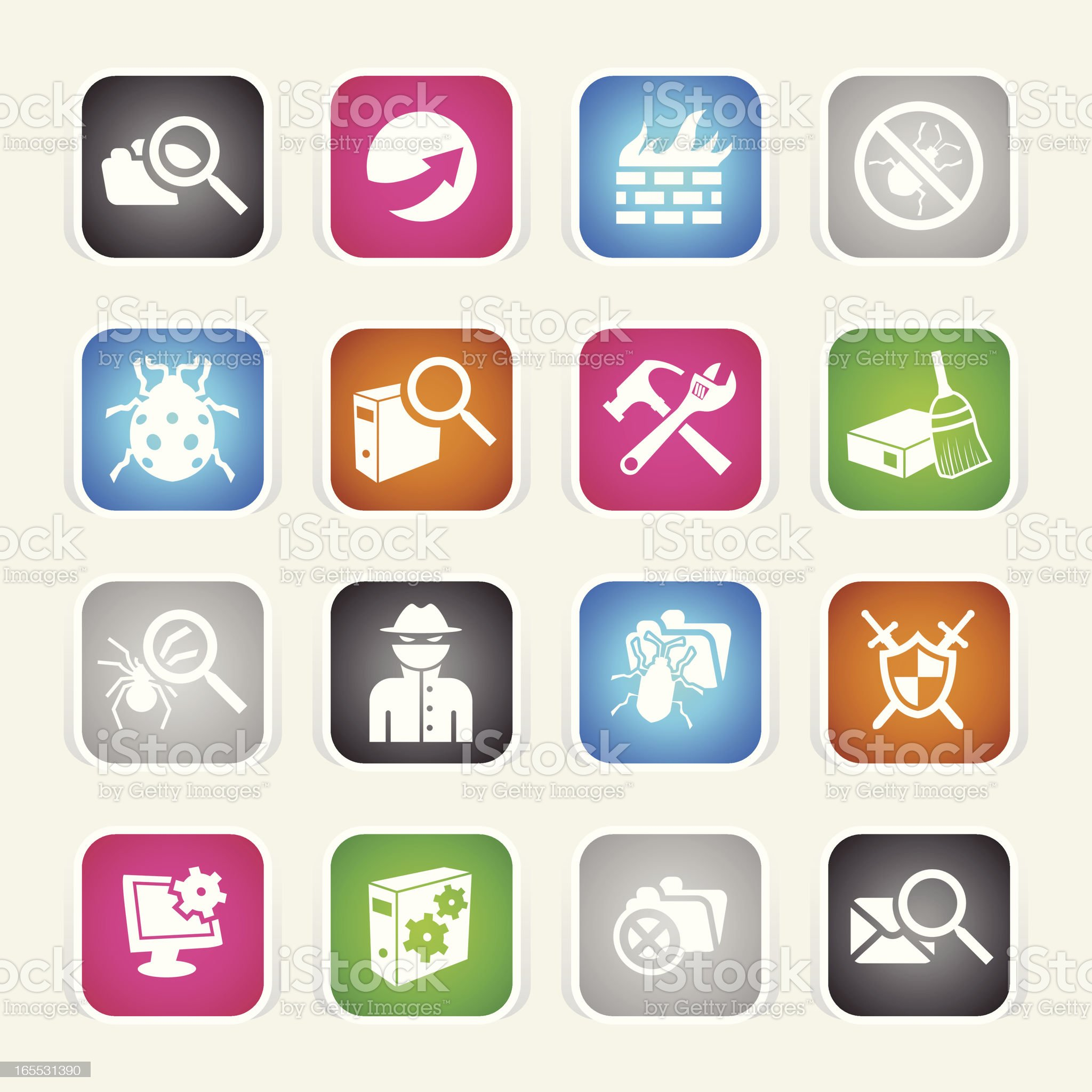 Multicolor Icons - Web Security royalty-free stock vector art