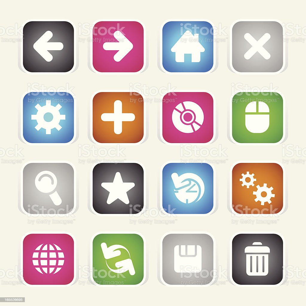 Multicolor Icons - Web royalty-free stock vector art