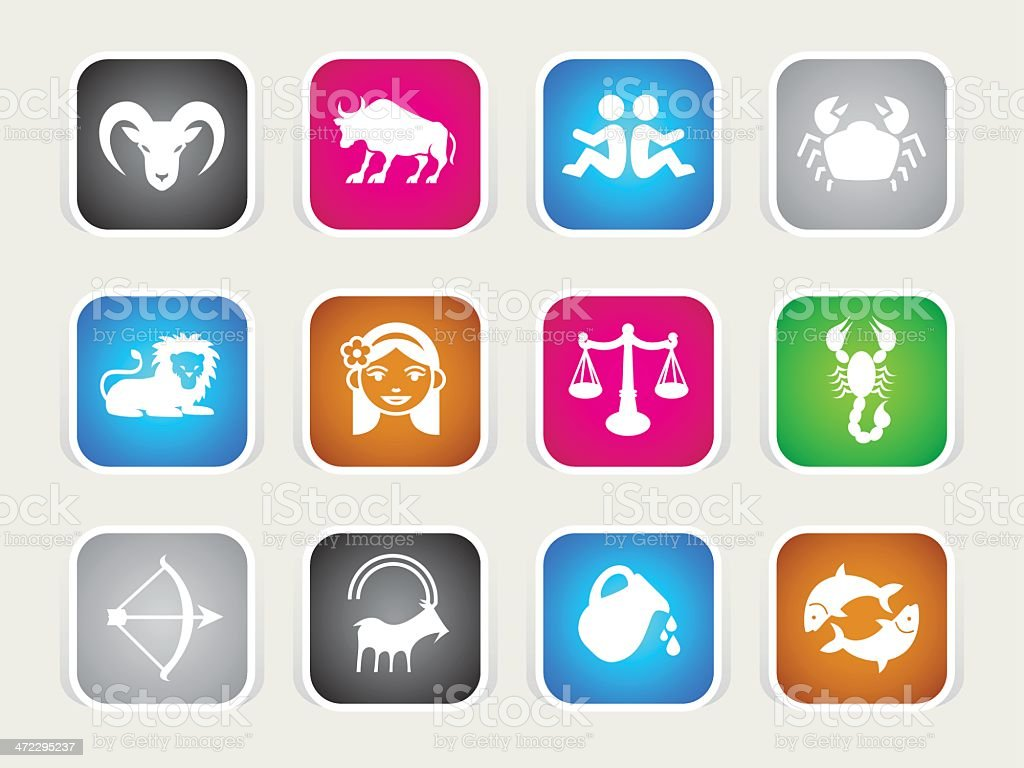Multicolor Icons - Zodiac vector art illustration