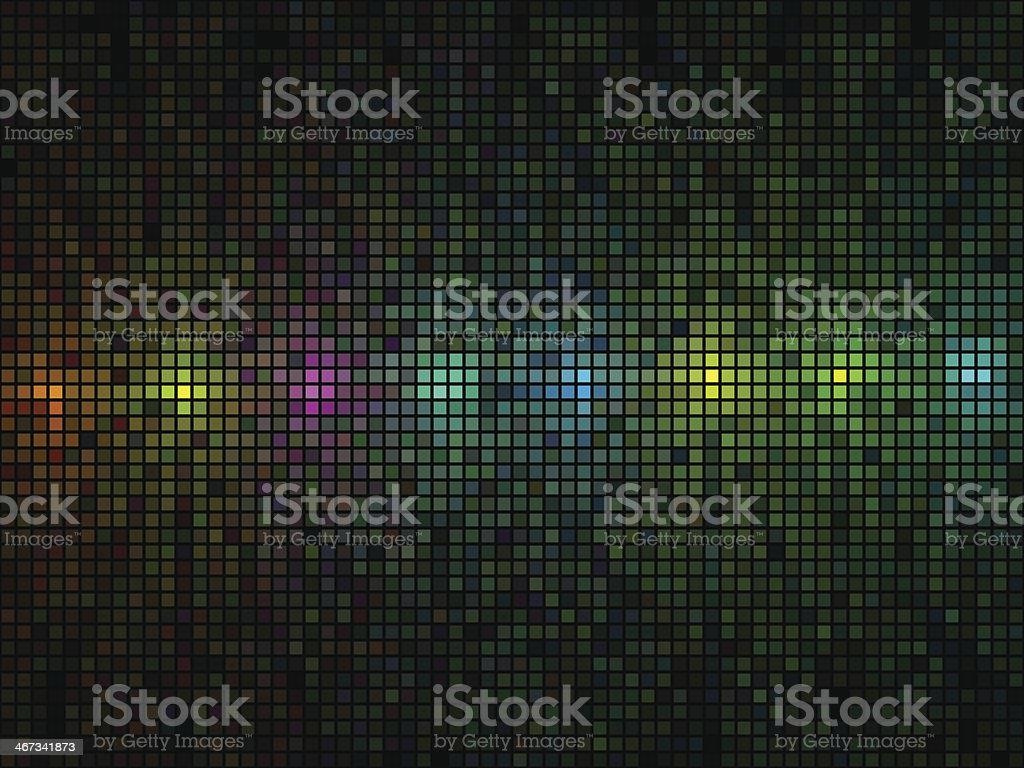 Multicolor lights disco mosaic vector art illustration