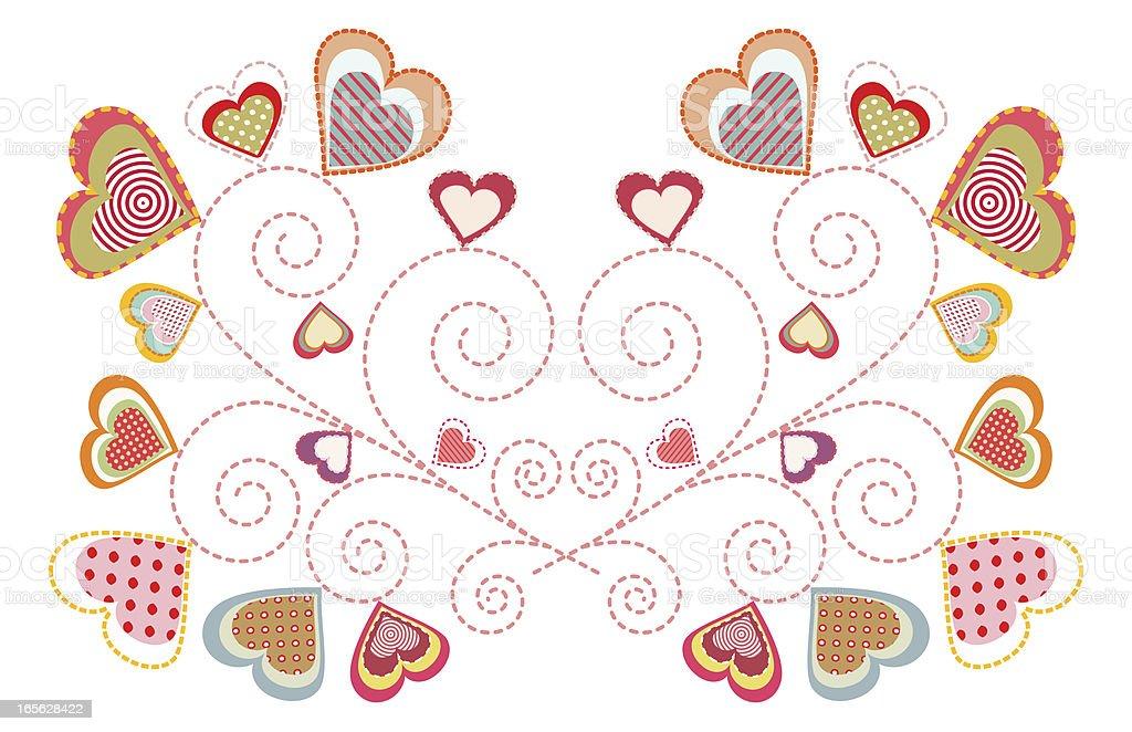 multicolor little hearts royalty-free stock vector art