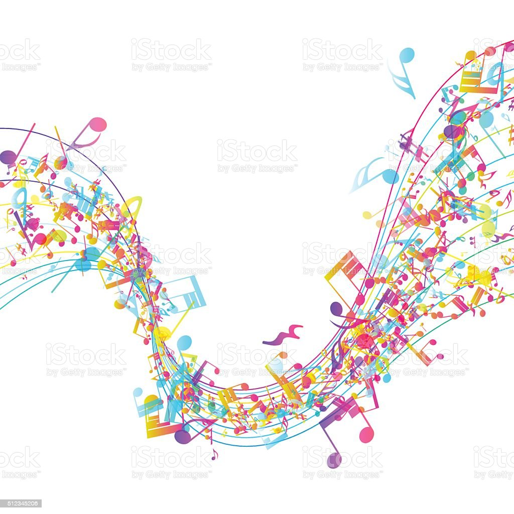 Multicolor Musical Design vector art illustration