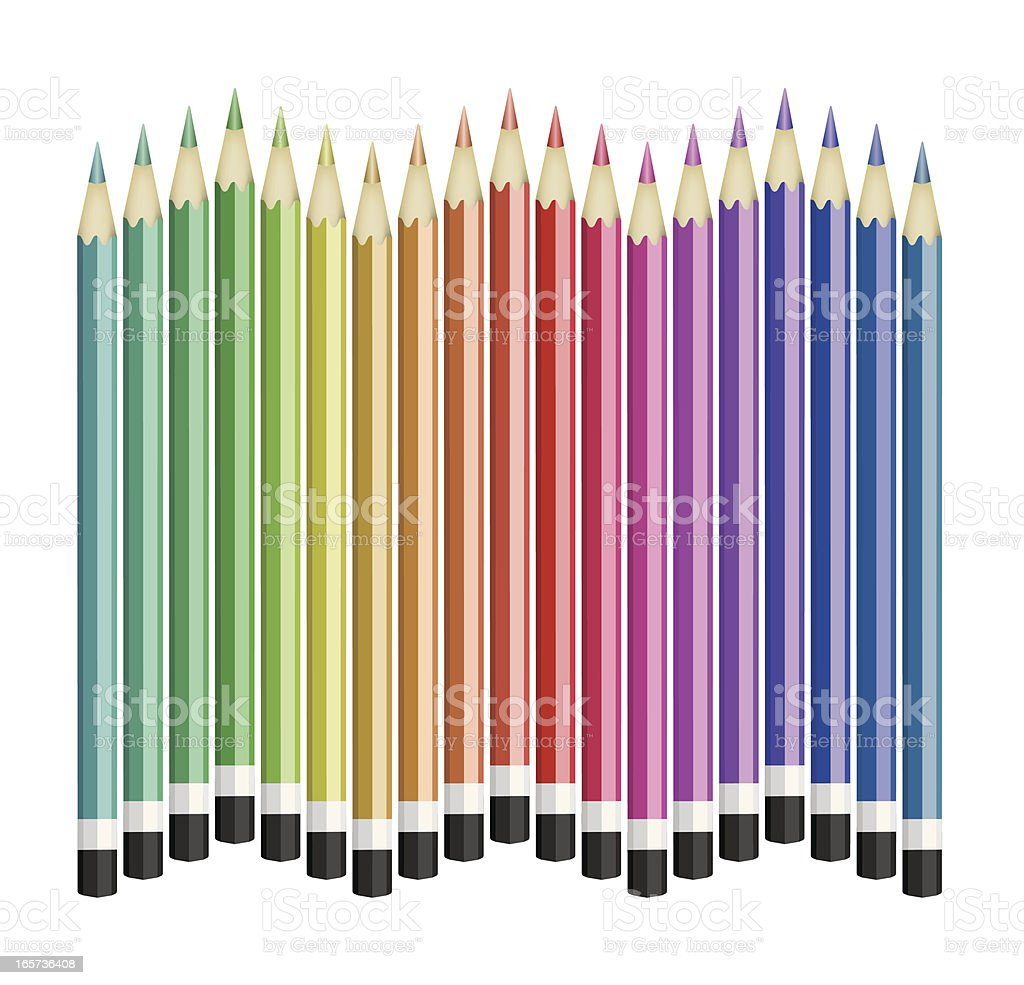 Multicolor Pencil royalty-free stock vector art