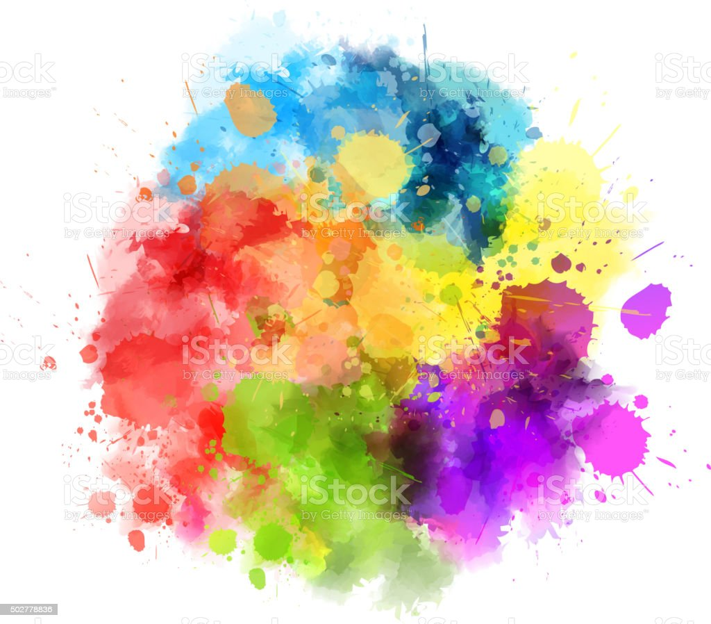 Multicolored blot vector art illustration