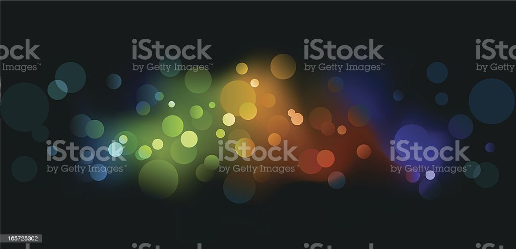 Multicolored blurry lights background royalty-free stock vector art