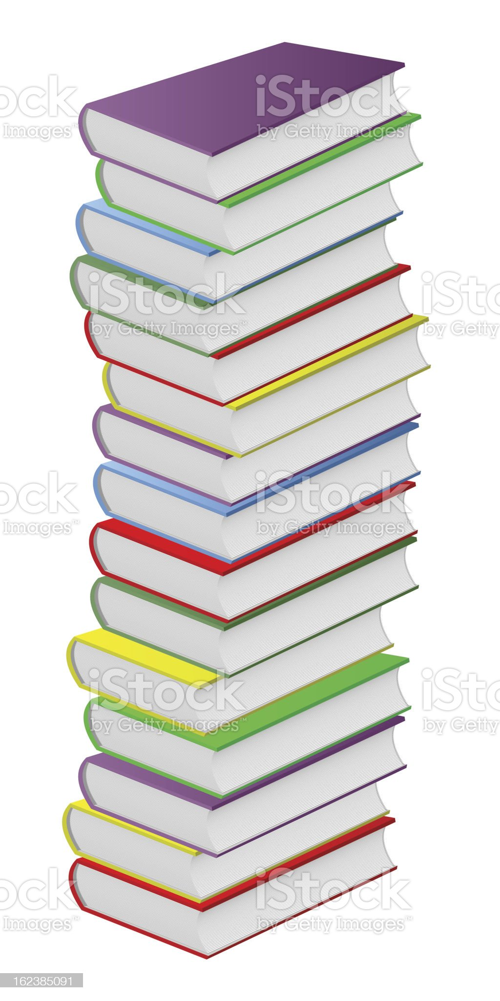 Multicolored books. royalty-free stock vector art