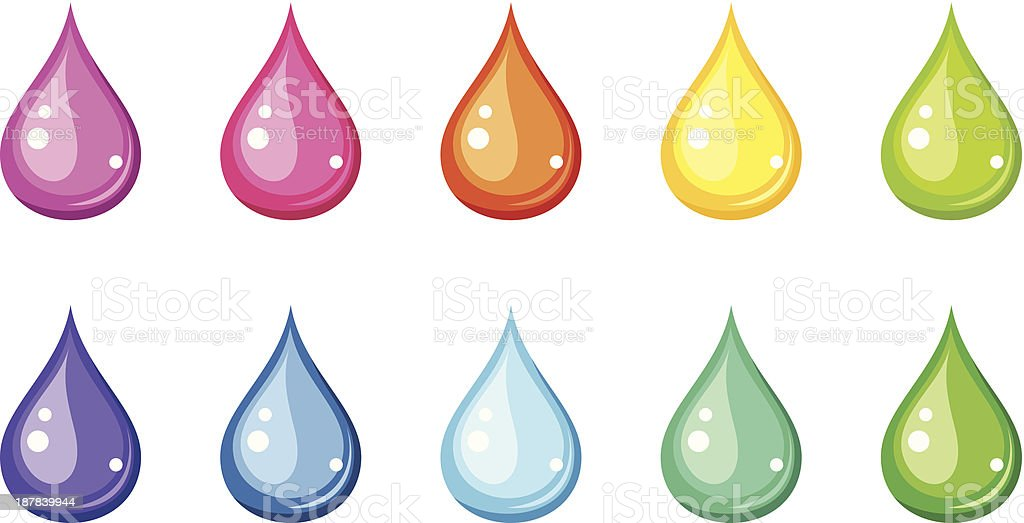 Multicolored drops. Vector illustration. royalty-free stock vector art