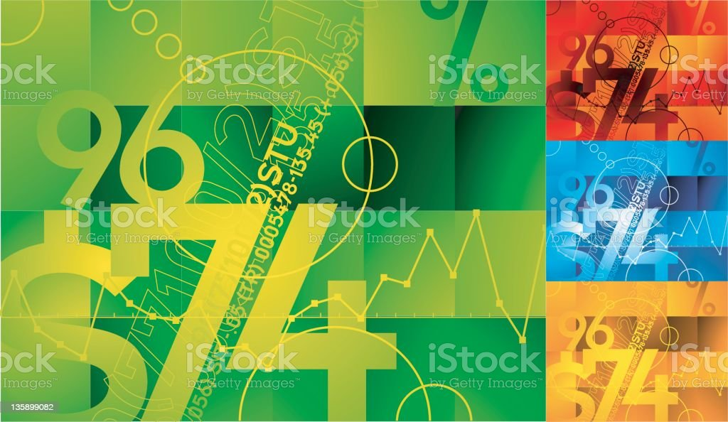 Multicolored financial backgrounds royalty-free stock vector art