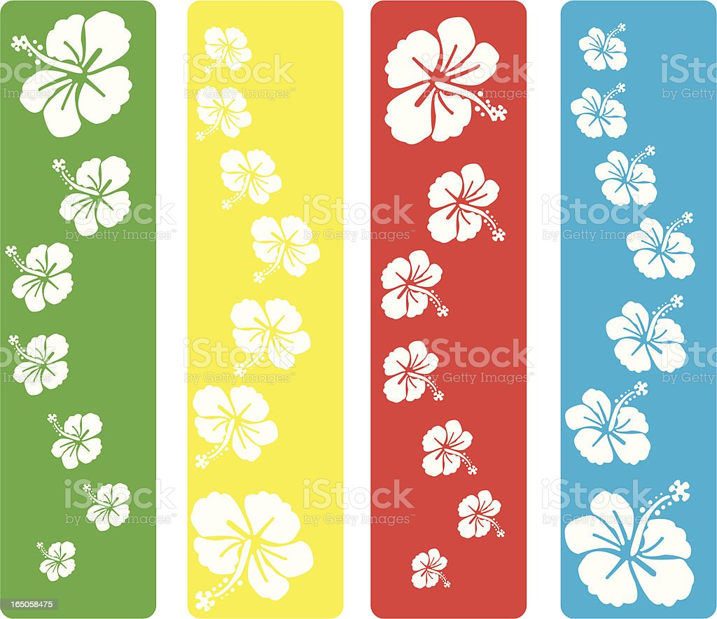 Multicolored Flowers royalty-free stock vector art