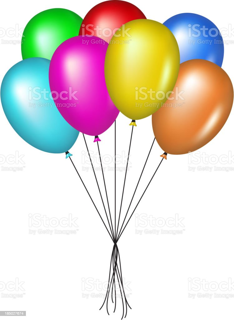 Multicolored glossy balloons royalty-free stock vector art