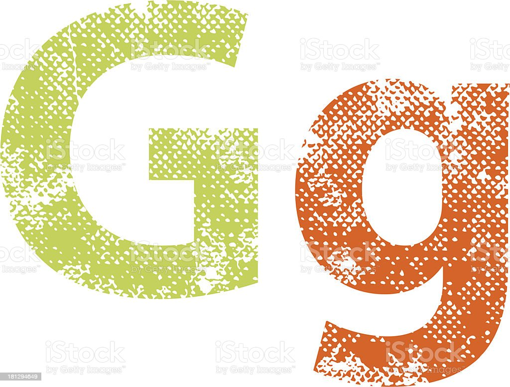 Multicolored grunge letters G. royalty-free stock vector art