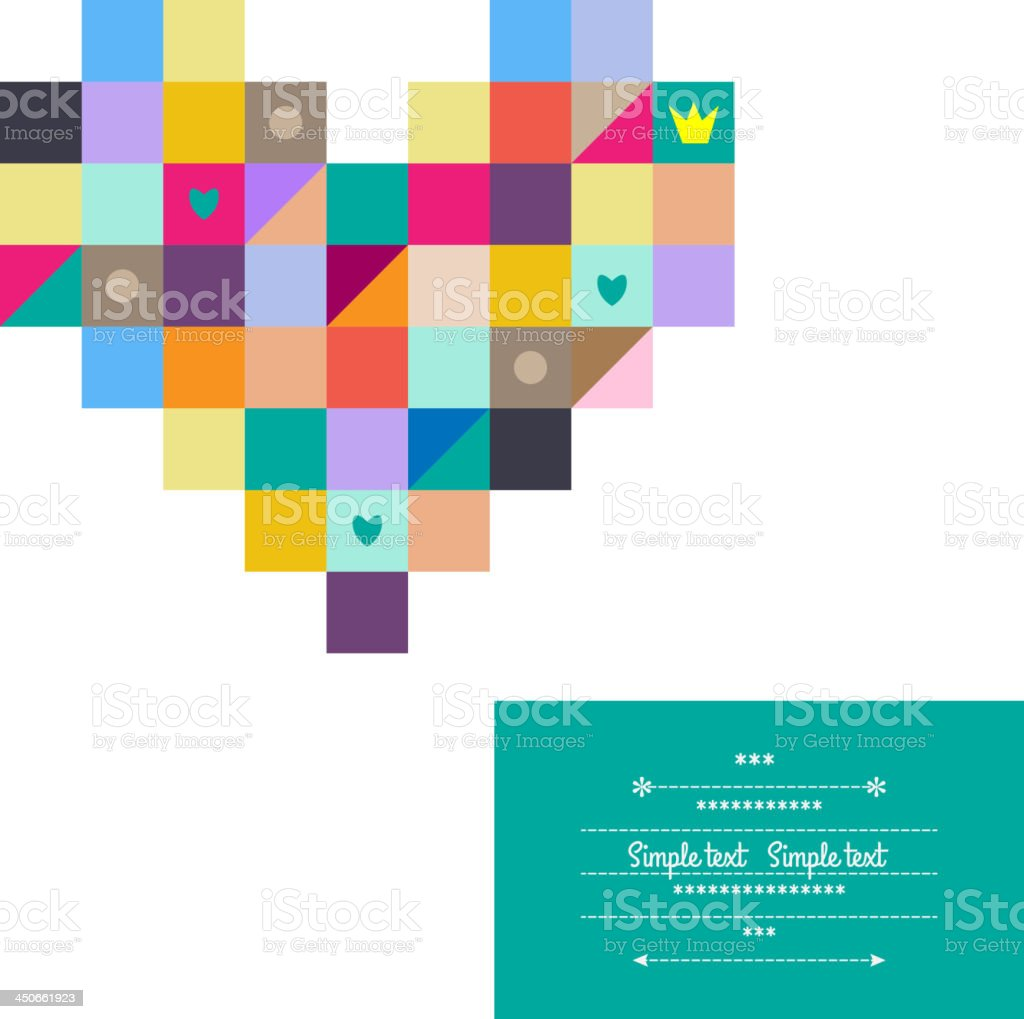 Multicolored heart. royalty-free stock vector art